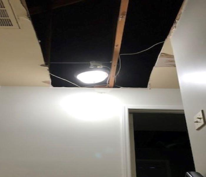 Ceiling fixed from storm damage